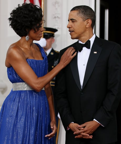 Pictures of Michelle and Barack Obama at State Dinner
