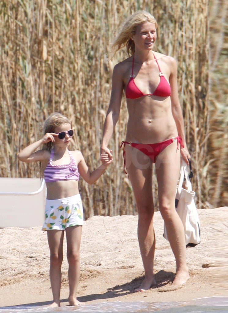 Gwyneth Paltrow Is Red Hot in a Tiny Bikini on Vacation With Apple, Moses, and the Spielbergs