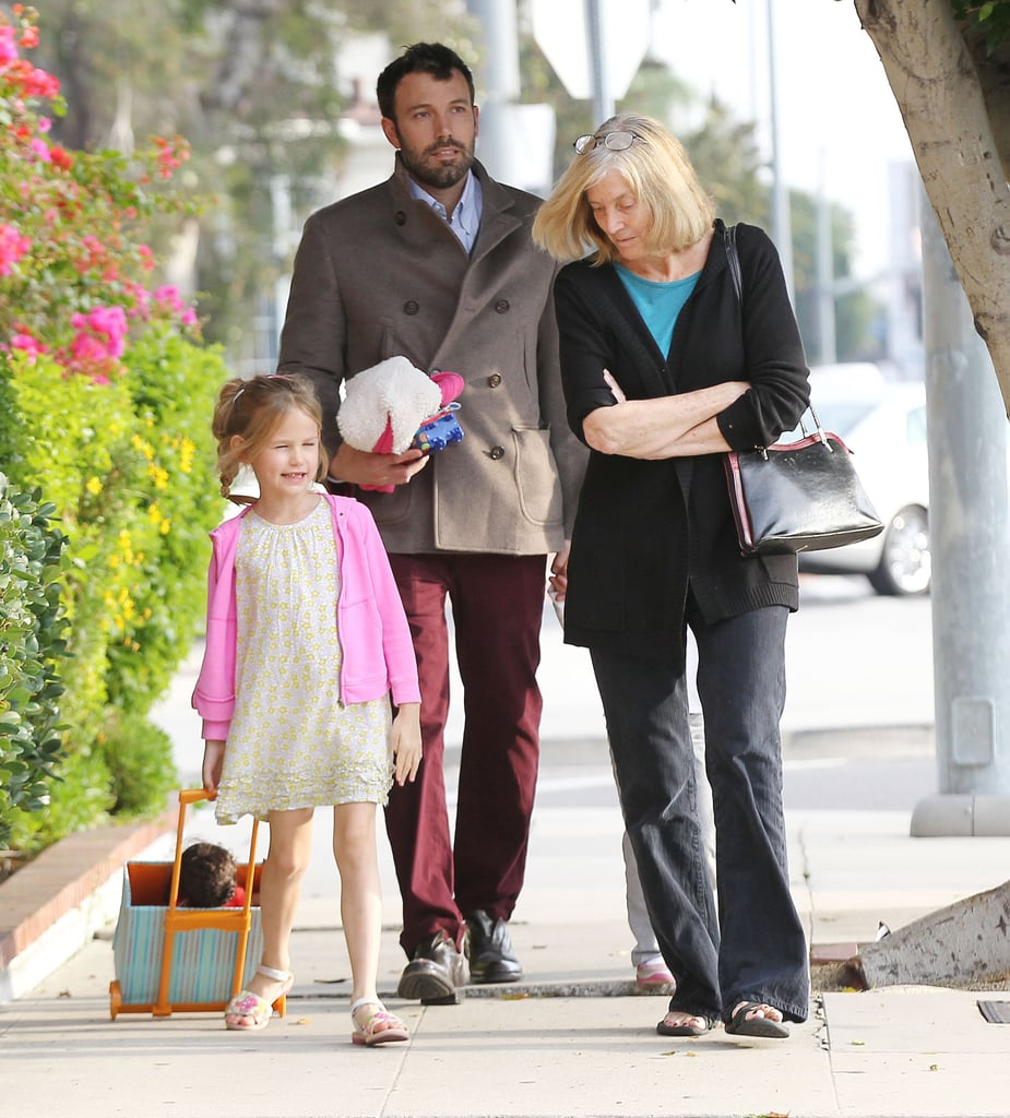 Ben Affleck spent some time with his daughters in LA.