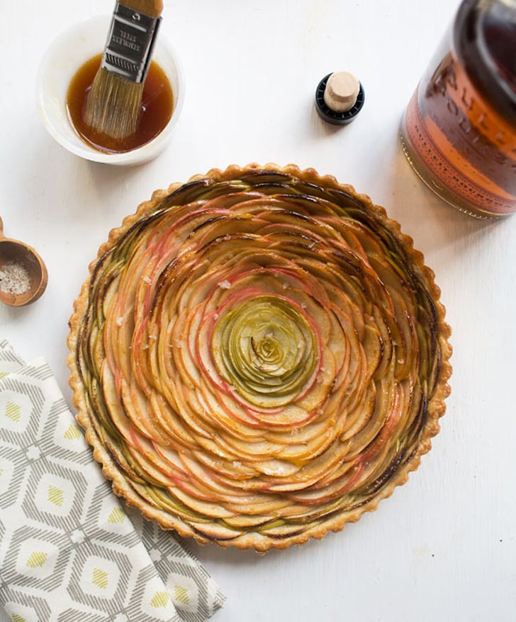 Rose Apple Pie With Bourbon Glaze