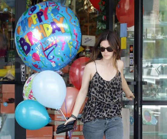 Photo Slide of Rachel Bilson Buying Balloons in LA