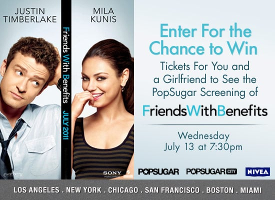 Win Movie Tickets to See Friends With Benefits