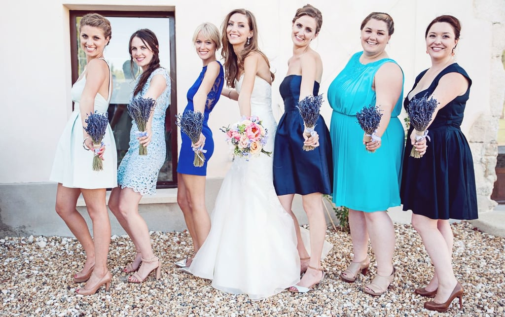 Bridesmaids With Lavender Bouquets
