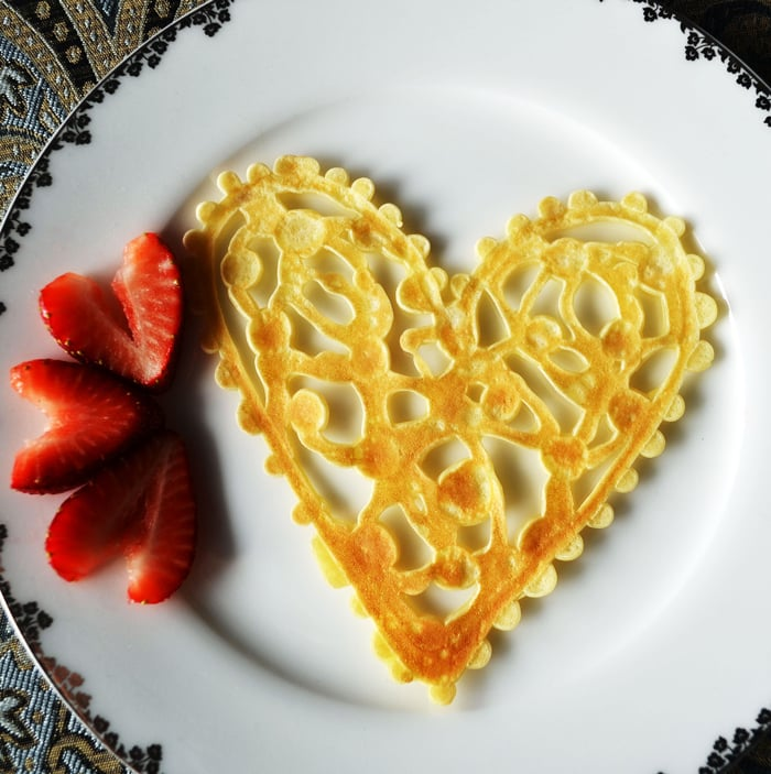 Heart-Lace Crepes