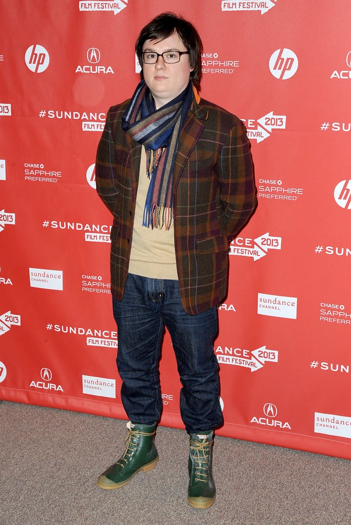 Clark Duke dressed up for the premiere of A.C.O.D. at Sundance.
