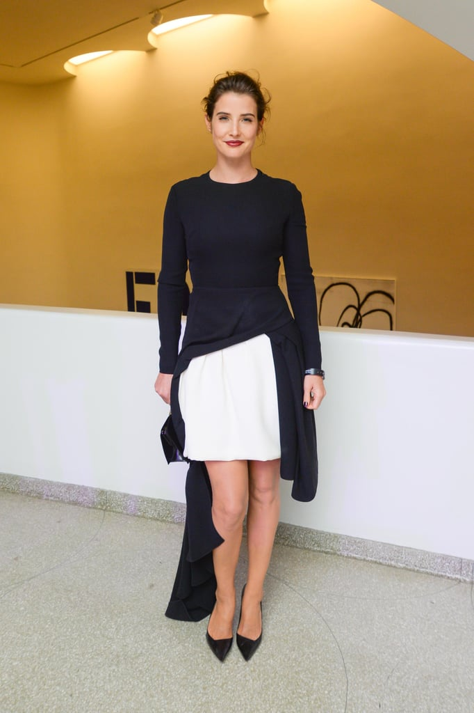 Cobie Smulders in Black and White Dior Dress