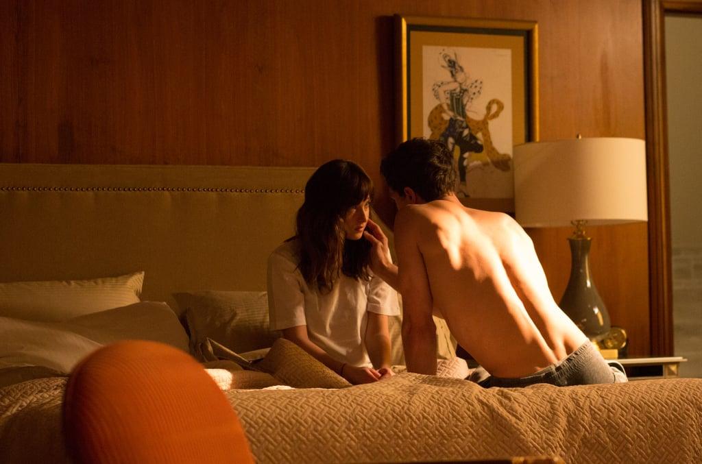 Ooh, sexy shirtless bed shot!