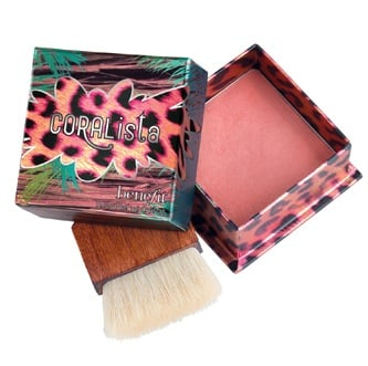 Benefit Cosmetics CORALista is this year's additon to Benefit's collection of cult-favorite face powder delivers a deep coral flush.  Benefit CORALista $28 @ Ulta.com