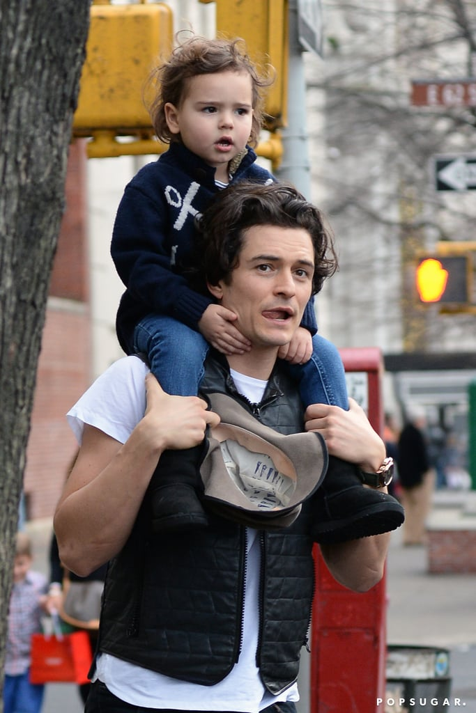 Orlando Bloom and his son, Flynn, shared similar expressions!