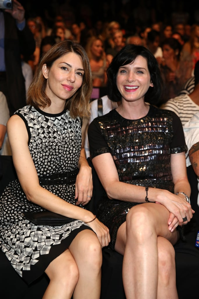 Sofia Coppola and Michele Hicks were front row at Anna Sui.