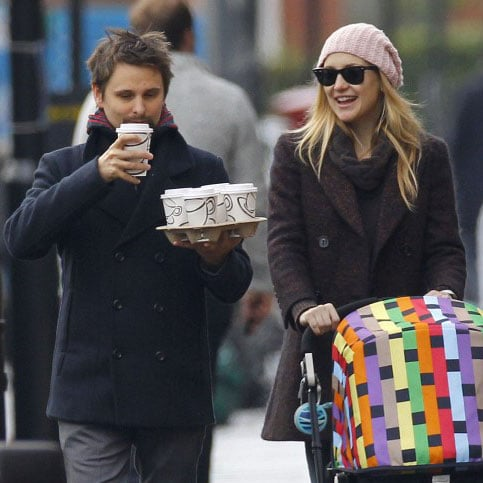 Kate and Matthew chatted during their early morning walk through London.