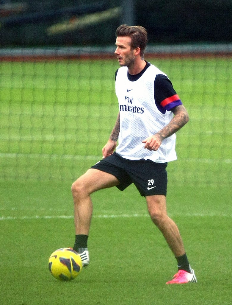 David Beckham stayed in shape playing club soccer.