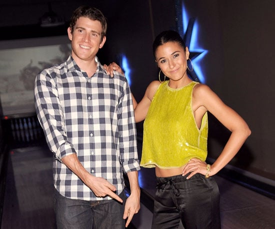 Slide Picture of Emmanuelle Chriqui and Bryan Greenberg at Pay It Fashion Forward Lucky Strikes in New York