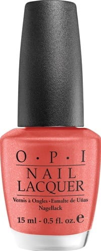 Part of the South Beach Collection, this coral polish with a hint of golden frostis extremely chip-resistant and long lasting. The formula is free of DBP, Toluene and Formaldehyde!   OPI Nail Lacquer in Conga Line Coral $9 @ JC Penney and select salons