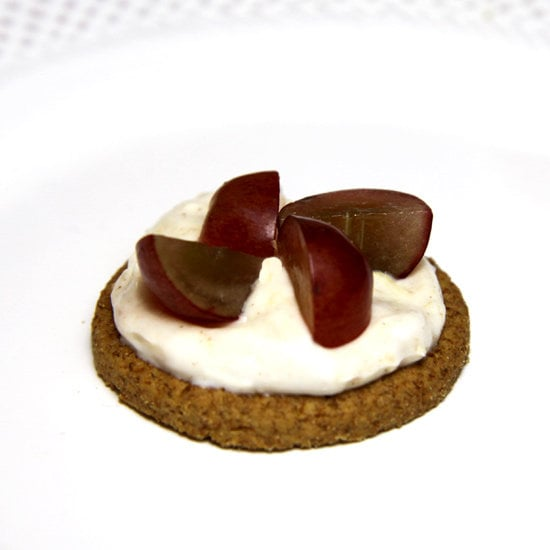 Creamy Peanut Butter Dip With Sliced Grapes