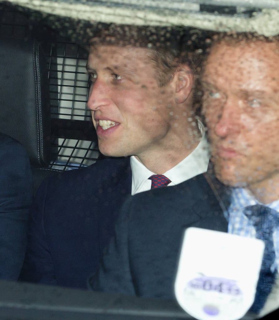 Prince William arrived at the Christmas lunch.