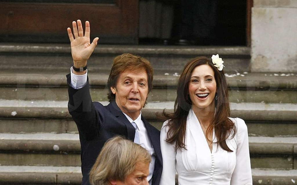 Paul and Nancy tied the knot in London.