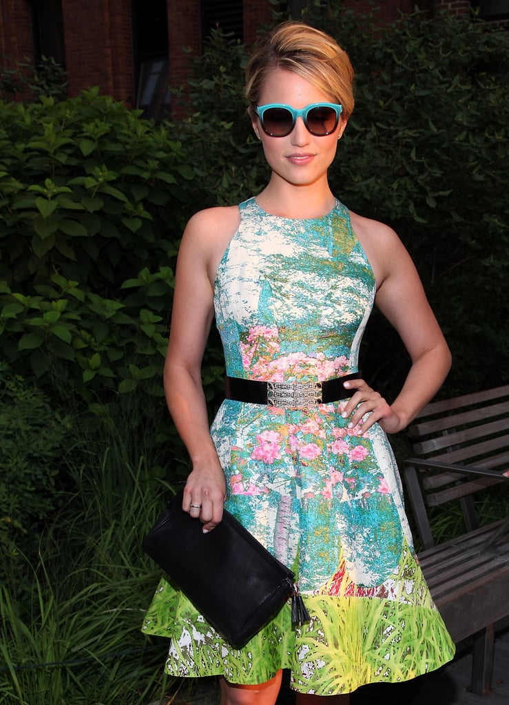 Dianna Agron looked fashionable in a pair of sunglasses at Coach's Summer Party on the High Line in NYC.