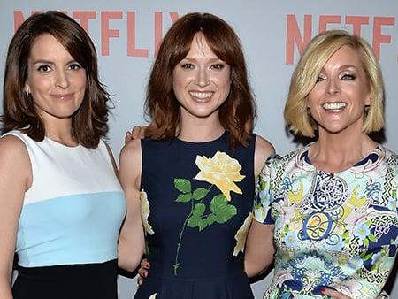 WATCH: Jane Krakowski Dishes on Unbreakable Kimmy Schmidt Costar Ellie Kemper's Pregnancy