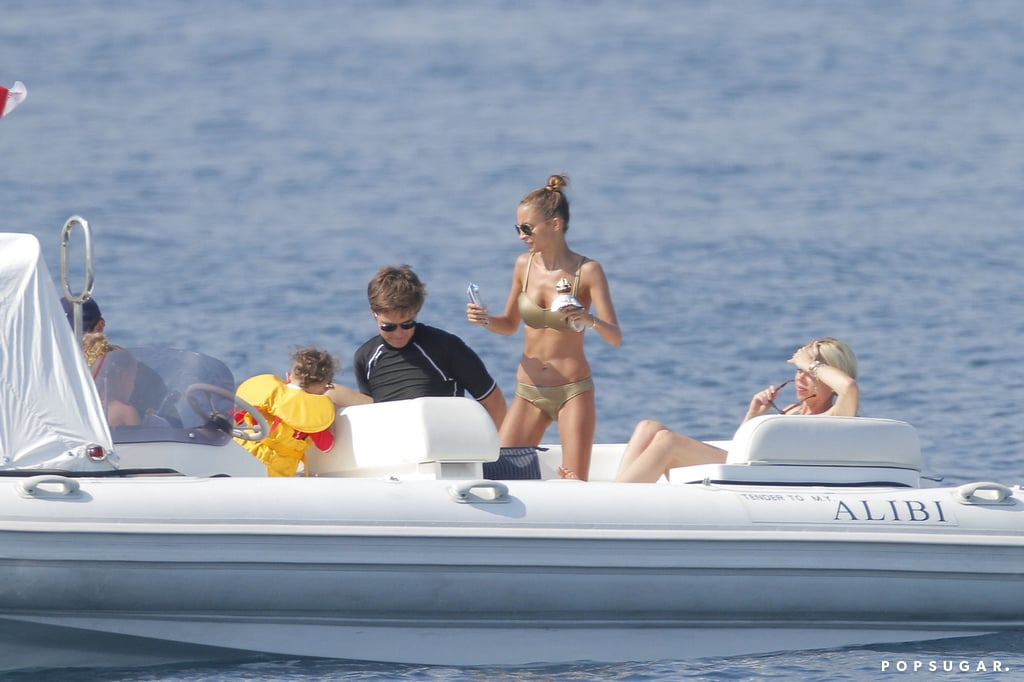 Nicole enjoyed life on the water in Saint-Tropez.