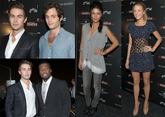 50 Cent, Blake Lively, Chace Crawford, Penn Badgley, Jessica Szohr and Ewan MacGregor at a Screening of Twelve 2010-07-29 17:00:00