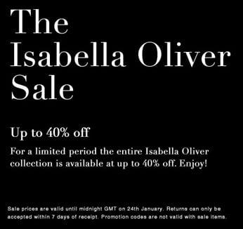 Mommy Alert! Isabella Oliver Sale