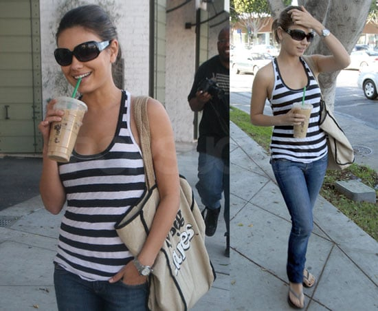 Photos of Mila Kunis Drinking Starbucks in LA