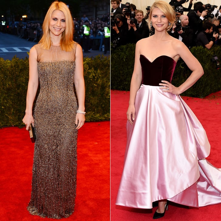 Claire Danes at the 2013 and 2014 Met Galas