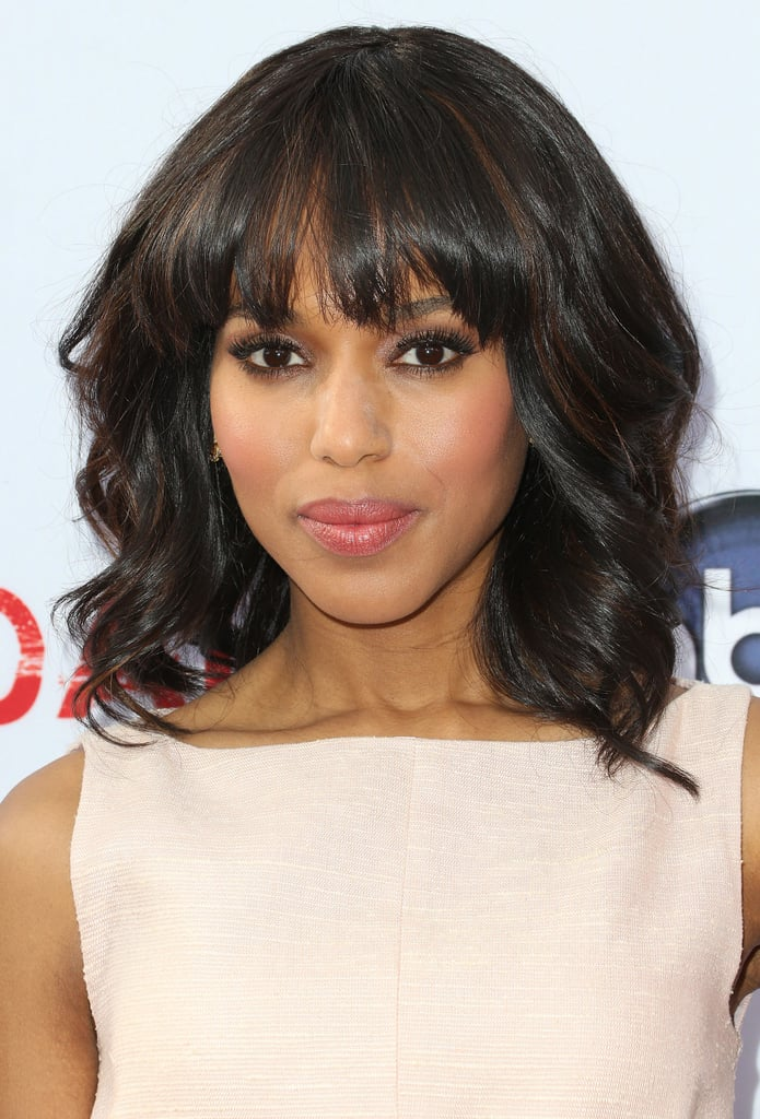 Kerry Washington was out in LA for a Scandal event. She wore her hair in voluminous waves, keeping her makeup feminine with pink tones on her lips and cheeks.