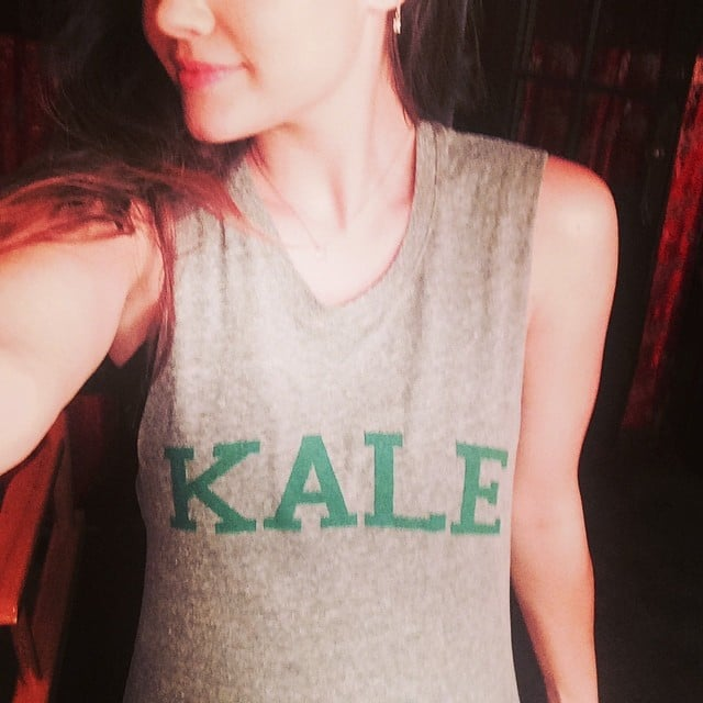Lucy Hale (aka Lucy Kale) rocked a punny workout t-shirt.