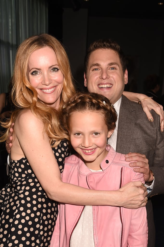 Jonah Hill joined up with Leslie Mann and her daughter Iris.