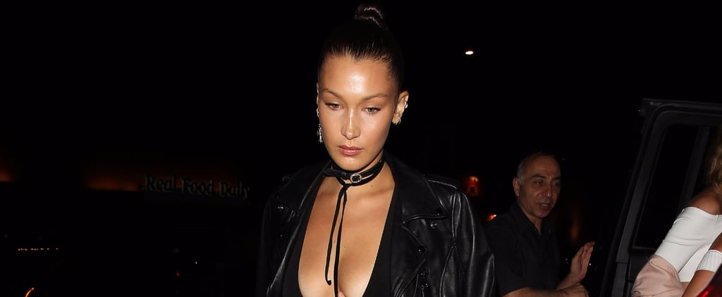 Bella Hadid Looks Like She's Wearing a Classic Leather Jacket, but Wait Until You See the Back