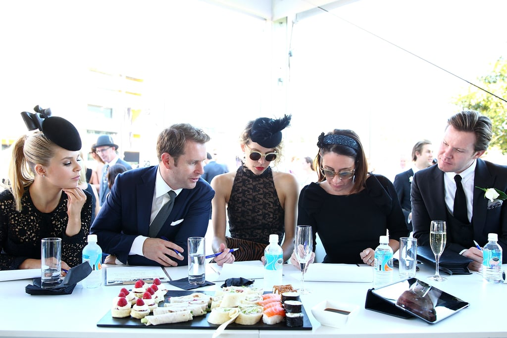 The judging panel for the Fashion Stakes at Royal Randwick