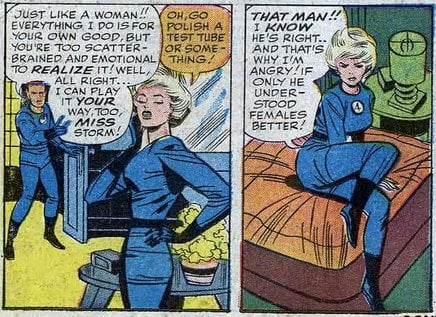 Women: always too scatter-brained and emotional! Source: Marvel Comics