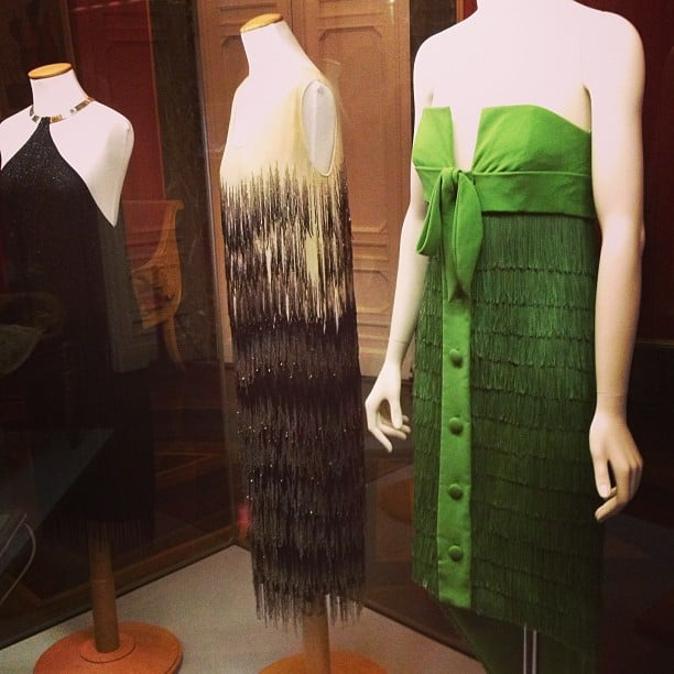 Vintage fashion inside the Pitti Palace Costume Gallery.