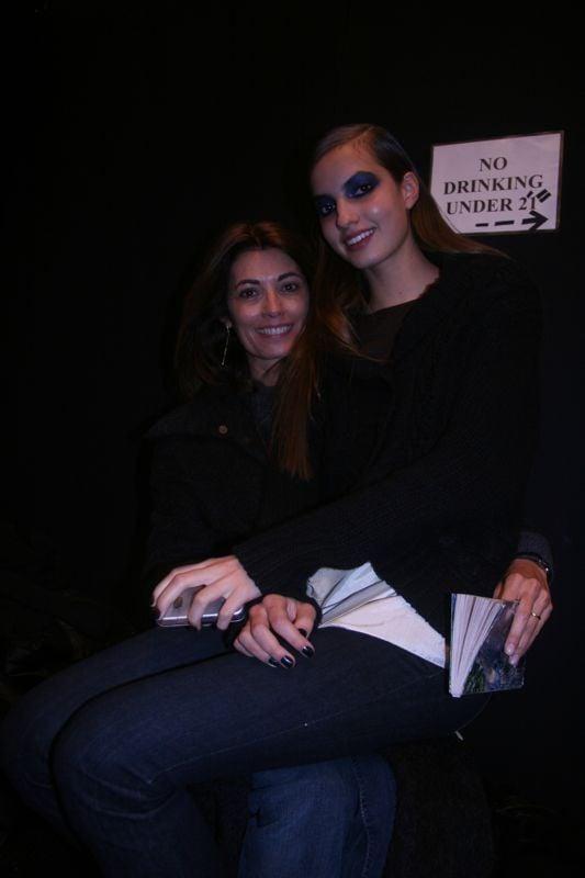 Backstage at Monique Lhuillier
