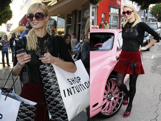 Photos of Paris Hilton and Her Pink Bentley