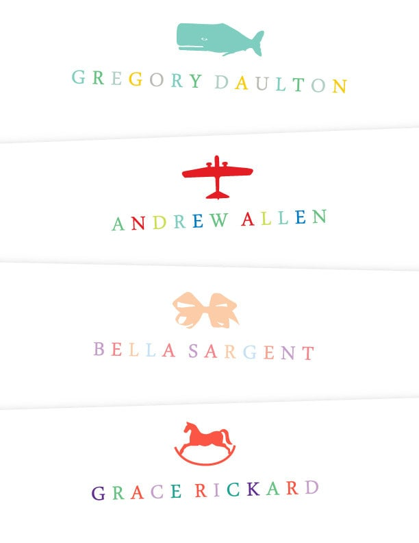 Choose the motif, font, and color to completely customize A2's precious printable notes ($8).