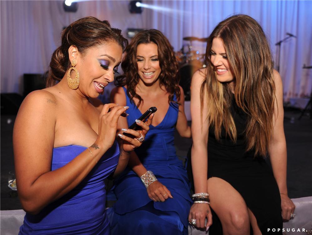 Eva Longoria was a bridesmaid at the wedding of her friend Amber Ridinger to Duane Mclaughlin at the Ritz-Carlton Dorado Beach in Puerto Rico, also attended by Khloé Kardashian and La La Vasquez.