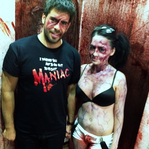 Eli Roth got into character for a Halloween party in Vegas.  Source: Instagram user realeliroth