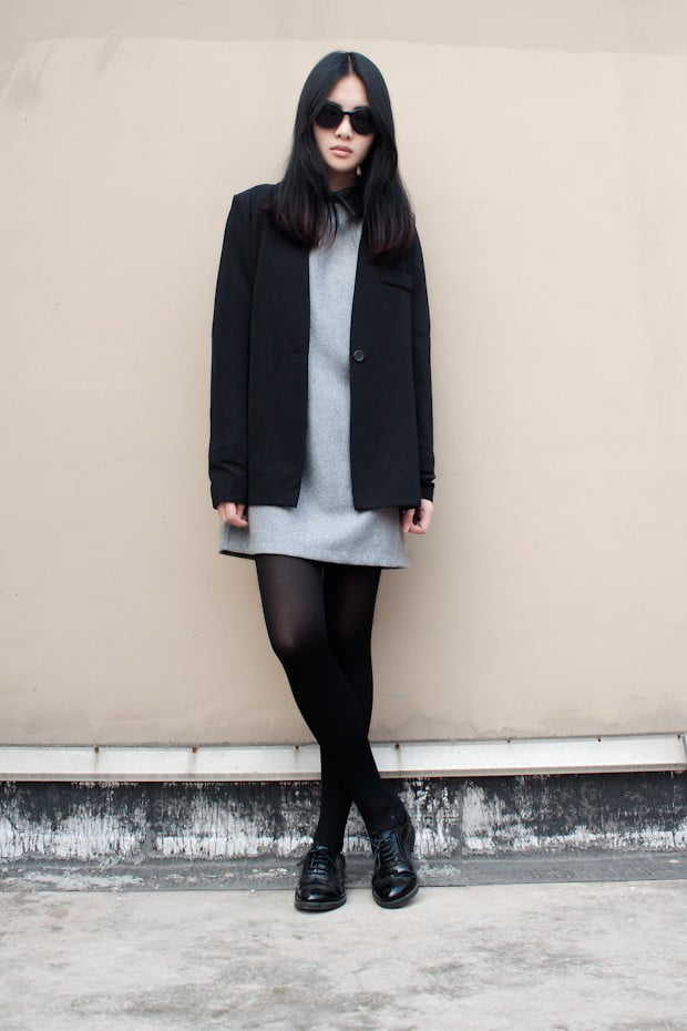 Laced-up oxford flats give a minimalist look polish and shine. Photo courtesy of Lookbook.nu