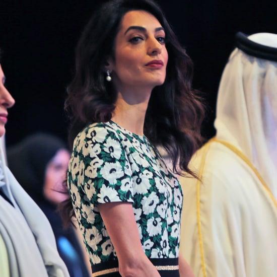 Amal Clooney in Stella McCartney at Mideast Emirates Forum