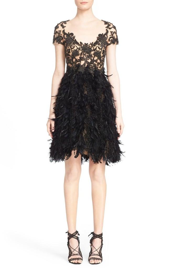 Marchesa Embroidered Illusion Dress ($4,495)