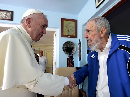 Pope Francis Meets With Former Cuban President Fidel Castro in an 'Informal Gathering'