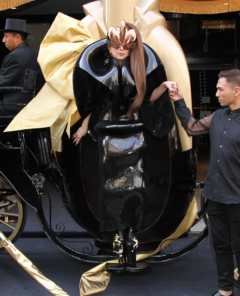 Lady Gaga never disappoints on the shock value, but we love her for it. She owns her bold fashion choices and makes them work to the extreme.
