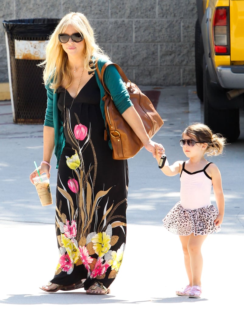 Sarah Michelle Gellar held Charlotte Prinze's hand and a drink from Starbucks in Studio City.