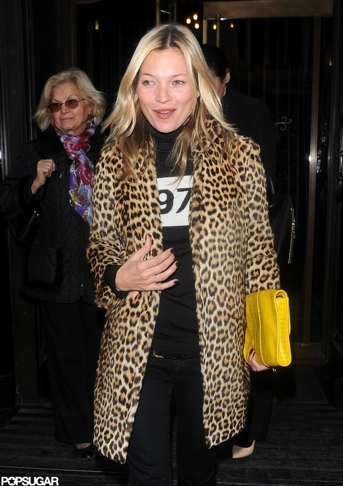 Kate Moss Unwinds After Halloween Over Dinner With Friends