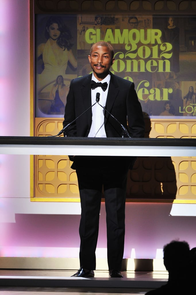 Pharrell Williams attended the Glamour Women Of The Year Awards in NYC.