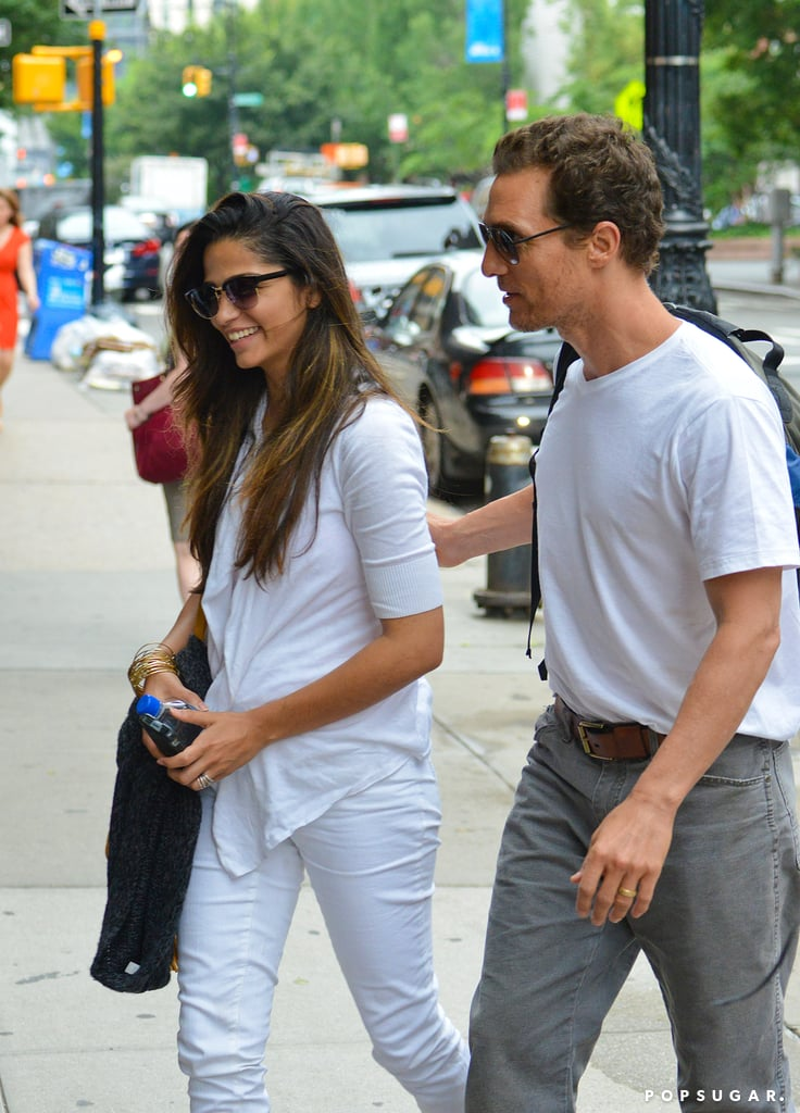 Matthew McConaughey and Camila Alves walked together in NYC.