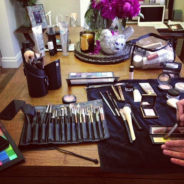Jesinta Campbell gave us a behind-the-scenes look into what goes into a makeup session. Source: Instagram user jesinta_campbell